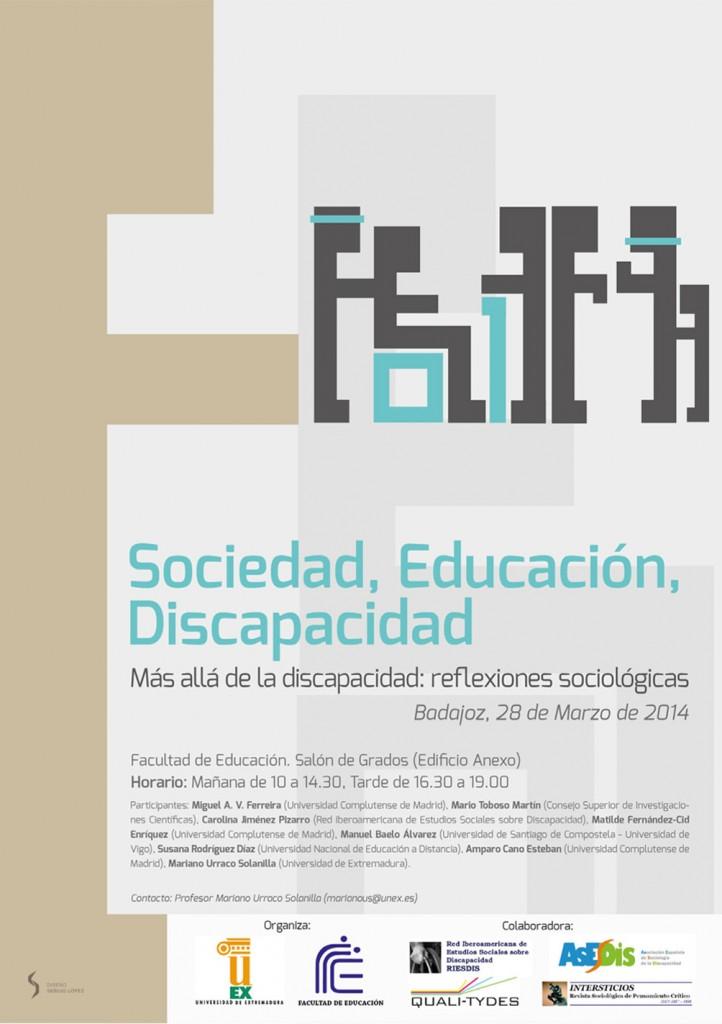 Sociedad, Educación, Discapacidad.  Más allá de la discapacidad: reflexiones sociológicas.