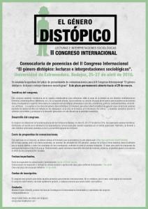 II Congreso Internacional. El género Distópico: Lecturas e Interpretaciones Sociológicas.