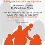La Adopción Nacional, Internacional y Maternidad Subrogada: Evolución Sociojurídica. Dr. Manuel Baelo